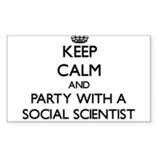 Keep Calm and Party With a Social Scientist Sticke