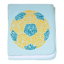 Soccer Ball Football Typography baby blanket