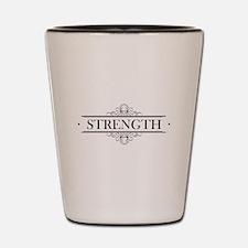 Strength Calligraphy Shot Glass