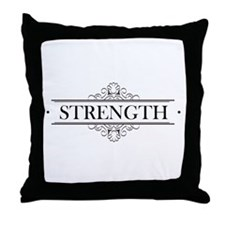 Strength Calligraphy Throw Pillow
