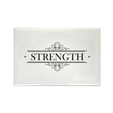 Strength Calligraphy Rectangle Magnet
