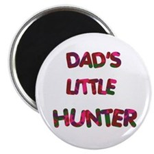 "Dads Little Hunter pinks 2.25"" Magnet (100 pack)"