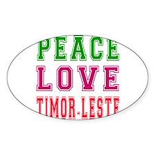 Peace Love Timor-Leste Decal