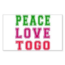 Peace Love Togo Decal