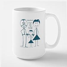 Adoption is... girl Mug
