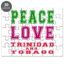 Peace Love Trinidad and Tobago Puzzle