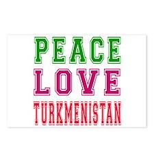 Peace Love Turkmenistan Postcards (Package of 8)