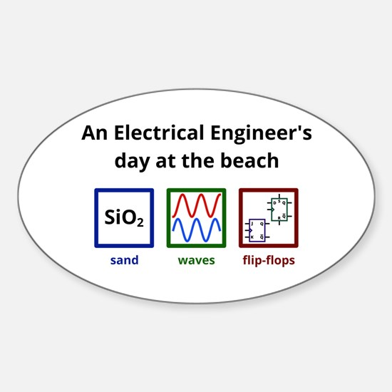 An Electrical Engineers day at the beach Decal