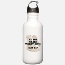 Army Dad Son wears DCB Water Bottle
