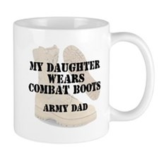 Army Dad Daughter wears DCB Mugs