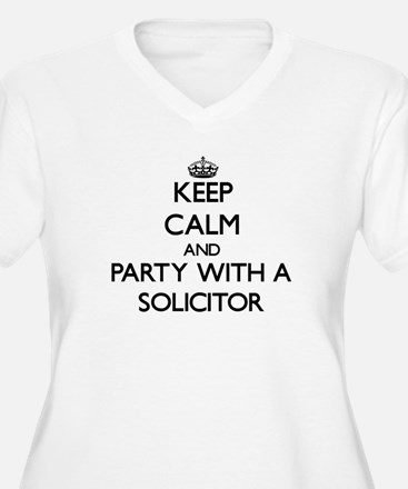 Keep Calm and Party With a Solicitor Plus Size T-S