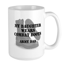 Army Dad Daughter wears CB Mugs