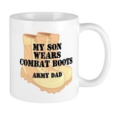 Army Dad Son Desert Combat Boots Mugs