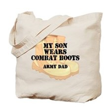 Army Dad Son Desert Combat Boots Tote Bag