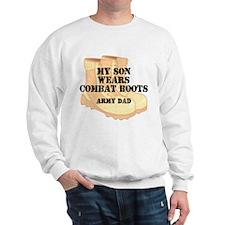 Army Dad Son Desert Combat Boots Sweatshirt