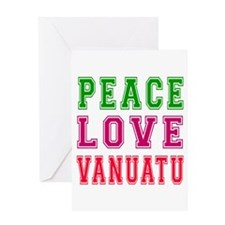 Peace Love Vanuatu Greeting Card