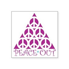 """Peace Out Square Sticker 3"""" x 3"""""""