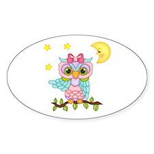 Not Me Girl Owl Decal