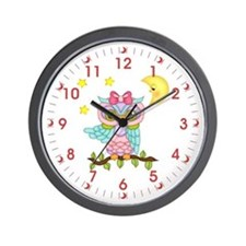 Not Me Girl Owl Wall Clock