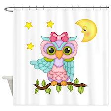 Not Me Girl Owl Shower Curtain