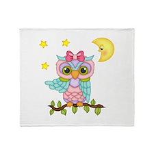 Not Me Girl Owl Throw Blanket