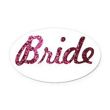Bride Oval Car Magnet