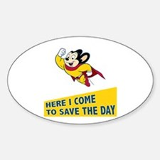 Mighty Mouse Sticker (Oval)