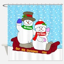 Our Nth Christmas Shower Curtain