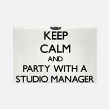 Keep Calm and Party With a Studio Manager Magnets