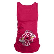 Maternity Skeleton Twins Maternity Tank Top