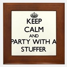 Keep Calm and Party With a Stuffer Framed Tile