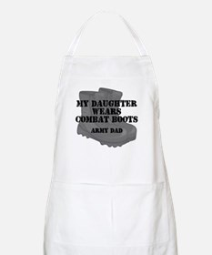 Army Dad Daughter Combat Boots Apron