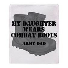 Army Dad Daughter Combat Boots Throw Blanket