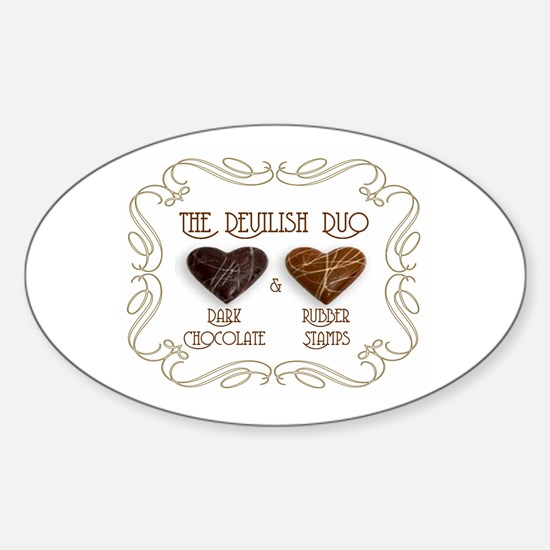 Sweet Sanity Duo Oval Decal