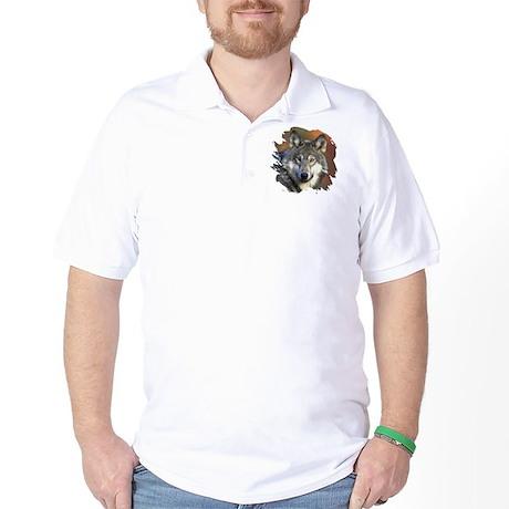 Gray Wolf Golf Shirt