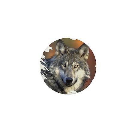 Gray Wolf Mini Button