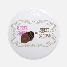 Sweet Sanity Ornament (Round)