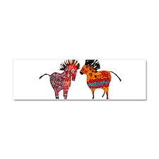 Colorful Totem Ponies Car Magnet 10 x 3