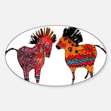 Colorful Totem Ponies Decal