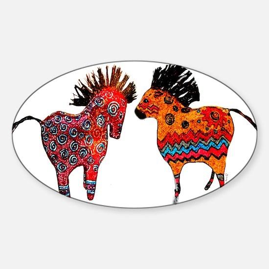 Colorful Totem Ponies Decal