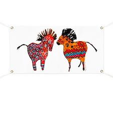 Colorful Totem Ponies Banner
