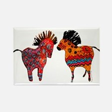 Colorful Totem Ponies Magnets