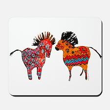 Colorful Totem Ponies Mousepad