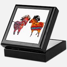 Colorful Totem Ponies Keepsake Box