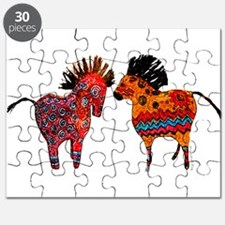 Colorful Totem Ponies Puzzle