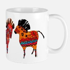 Colorful Totem Ponies Mugs