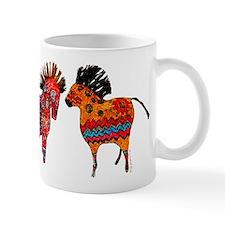 Colorful Totem Ponies Mugs