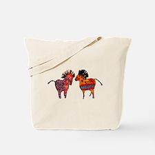 Colorful Totem Ponies Tote Bag