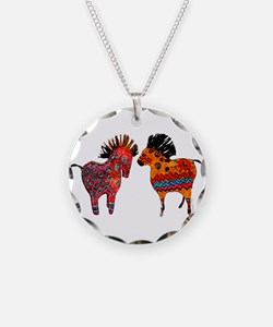 Colorful Totem Ponies Necklace