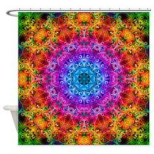 Rainbow Loop Kaleidoscope Shower Curtain